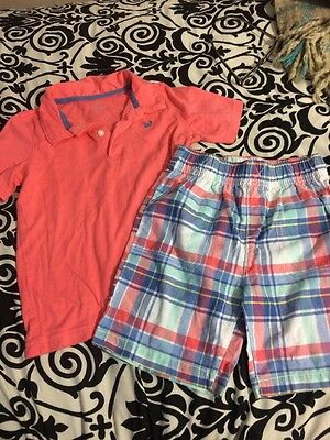 Carter's Toddler Boys 2pc Outfit Size 5 (more Like 3-4) EUC