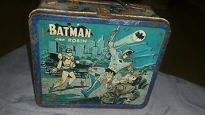 1965 Batman and Robin Aladdin metal lunch box with no thermos