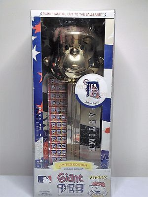 """Giant Pez Detroit Tigers Golden Charlie Brown Candy Dispenser-Over 12"""" Tall-VHTF"""