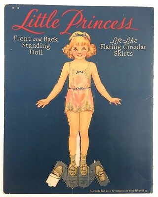 Vintage Paper Dolls Merrill Little Princess Rare Clean Uncut 1936