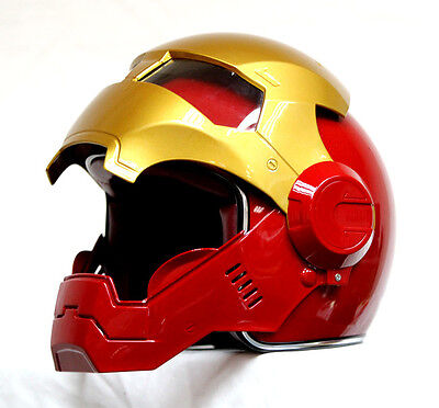 Brand New Masei Red-Gold IronMan 610 Motorcycle Helmet - All sizes available