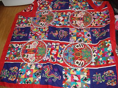 Chinese folk art hand made double sided patchwork & applique detailed work