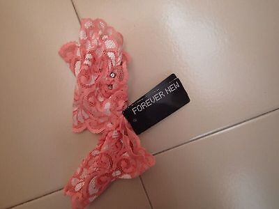 """Forever New"" Coral Embellished Lace Gloves Mitt - BNWT RRP $12.99 - Bargain!"