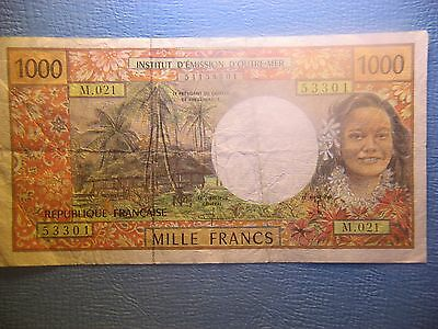 French Pacific Territories 1000 Francs