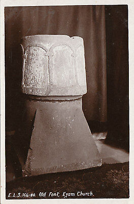 Old Font In Church, EYAM, Derbyshire RP
