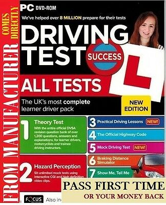 Driving Theory Test & Hazard Test - CAR. PC DVD CD - NEW 2016 / 2017 EDITION apc