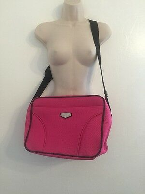 Pink Protocol Messenger Bag Book Bag Briefcase Canvas Laptop