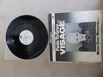 """Visage / Ultravox - Fade To Grey/moon Over Mosc - Japanese Promo Pic Sleeve 12"""""""