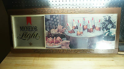 """1979 Michelob Beer Sign - Non Lighted - 33.5"""" x 14"""""""