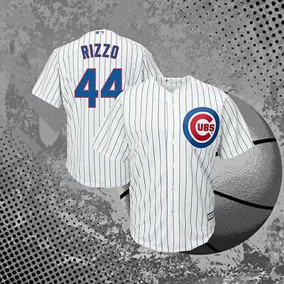 Chicago Cubs #44 Anthony Rizzo Men's White Cool Baseball Jersey M-3XL
