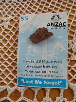 Collectable Anzac Badge [Pin] on card.