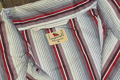 """New Old Stock 1930s / 1940s Vintage """" LOYALCRAFT """" Two Piece  Cotton Pajamas"""