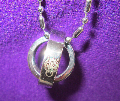 Final Fantasy VII Cloudy Wolf Rotating Ring Necklace - Fast Free US shipping