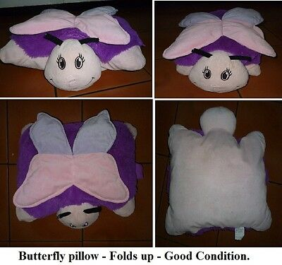 BUTTERFLY PILLOW -Folds up-From a SMOKE FREE ENVIRONMENT EXC.Cond.
