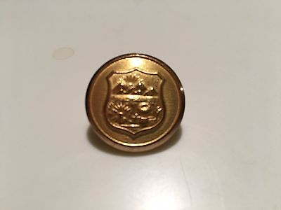 Police Button Embossed With State Of Ohio Seal, Gold Plated, 1""