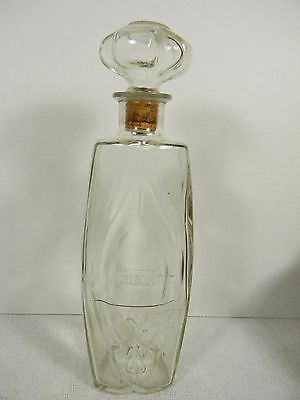 """Vintage Schenley Glass Whiskey Decanter with Stopper - 12"""""""