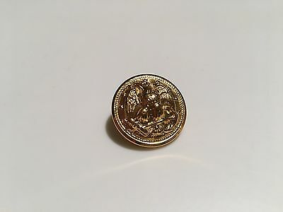 "Usn Button, 1"", Gold, Lot Of 3"