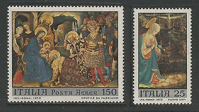 ITALIA ITALY 1970 - NATALE Christmas Paintings -  MNH