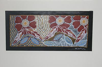 Aboriginal painting Marjorie Cox Warrayayi Acrylic on canvas framed