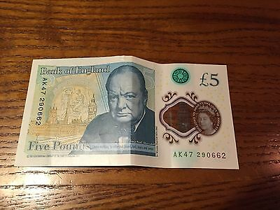 £5 Pound Note Very Rare Low Series Number Selling For Thousand £££££