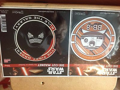 STOCKING STUFFERS Star Wars Die Cut Magnets BB-8 The First Order MUST SEE
