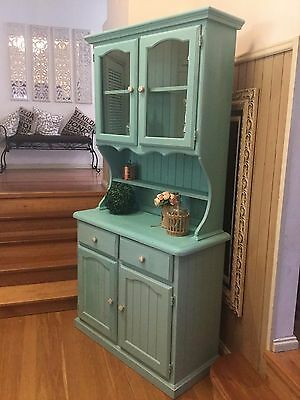 French Provincial vintage rustic Buffet and Hutch