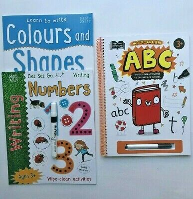 Letters Numbers Colours & Shapes Learn to Write Wipe Clean Early Learning Books