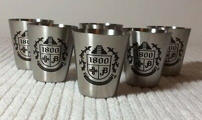 Jose Cuervo Tequila 1800 Metal Shot Glasses - Set of 6