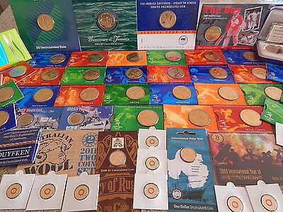 Huge Collection Of Australian Commemorative Uncirculated Decimal Coins