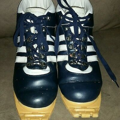 ADIDAS Mittenwald Cross Country XC SKI Boots 3 Pin US Mens Size 9 Blue Shoes