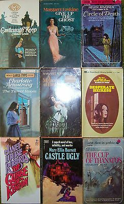 Lot of 9 Gothic Romance Paperbacks Vintage Romantic Suspense Gothics Mystery