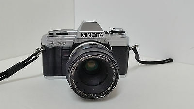 Vintage~Minolta x-300 SLR with 50mm lens ~ 35mm Film ~1.4 Camera