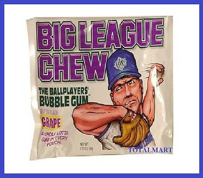 1 X BIG LEAGUE GRAPE FLAVOR USA  Chewing Gum (60g) free postage