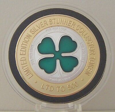 Lucky 4 Leaf Clover Silver Stunner Coin - Limited Edition 500 Released