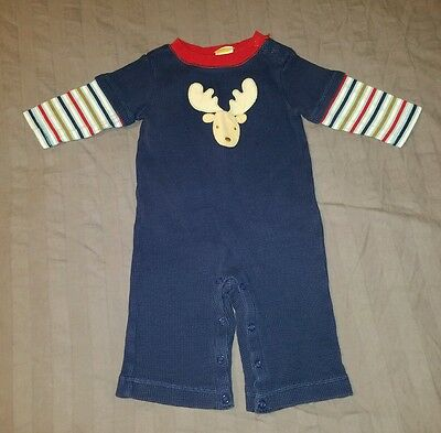 VGUC Gymboree Baby Boy Clothes 3-6 Months One Piece Thermal Deer Romper