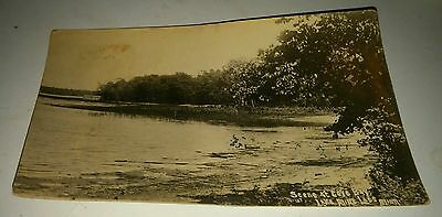 Vtg 1913 Scene Cove Bay MILLE LACS LAKE (MN) RPPC Card~Postmarked ONAMIA~Lot