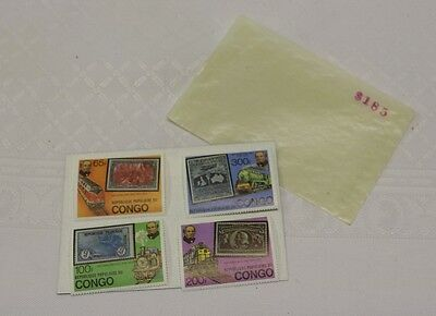CONGO Stamps China Republique Populaire Du Lot of 4 65f, 300f. 200f, 100f CHINE