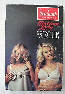 VINTAGE 1970's TRIUMPH Materna Vogue Maternity Nursing Bra 14A in Original Box