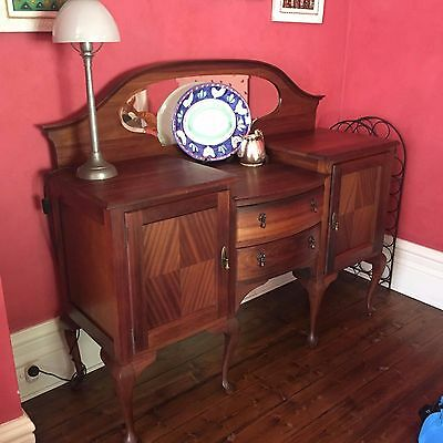 Sideboard solid timber victorian style walnut dining room