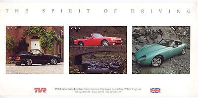 TVR Sports Cars (UK) sales flyer, 1991-2
