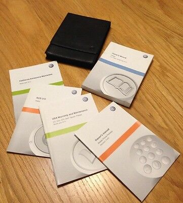 2012 Volkswagen Passat VW Owner's Manual With Leather Case