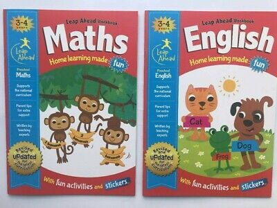 LeapAhead Early Learning Maths & English Workbook Pack Ages 3-4 Reception Year
