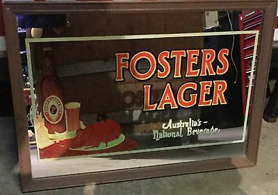 Fosters Lager. Bar Mirror. 485mm x 330mm.