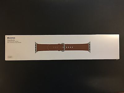 NEW Genuine Apple  Watch Band -  38mm Saddle Brown Classic Buckle - MMH92AM/A