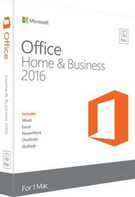 NEW & SEALED Microsoft Office Home and Business 2016 for Mac   Mac Key Card