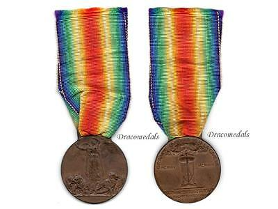 Italy WW1 Medal Victory Interallied 1914 Decoration Service Italian Mkr Sacchini