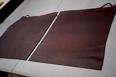 Veg/Vegetable tanned Mahogany Brown Smooth Cowhide Quarter Butt/Bend