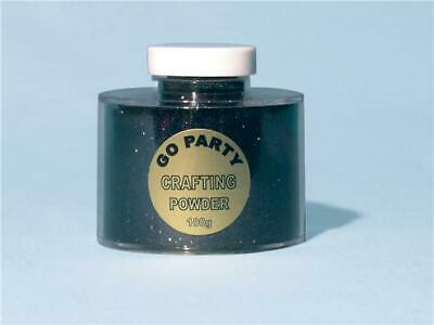 Black Crafting Powder/Fine Glitter Shaker 100g