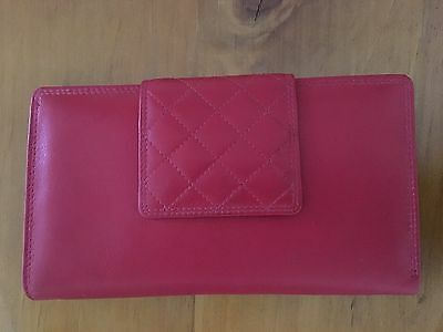 Ladies Red Leather Wallet/Purse/Clutch - BNWT