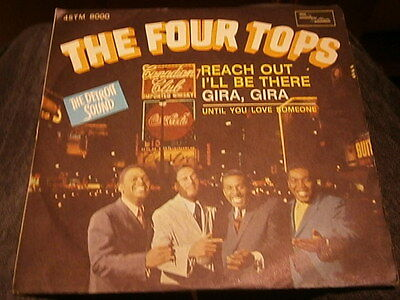 """7"""" the four tops - reach out i'll be there"""